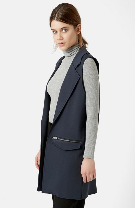 TopShop Sleeveless Ponte Jacket
