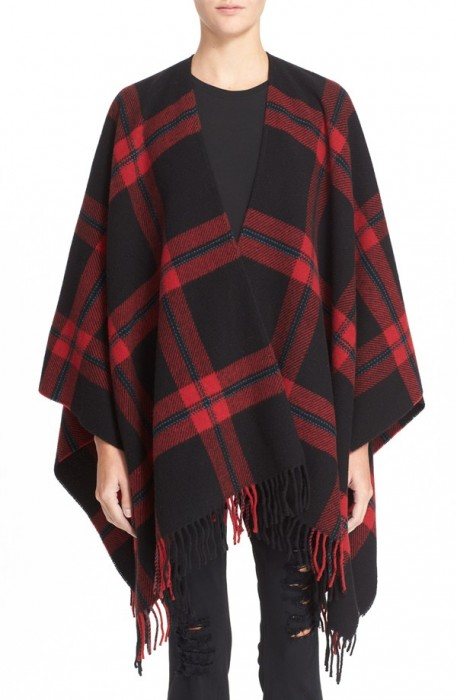 The Kooples Plaid Wool Poncho