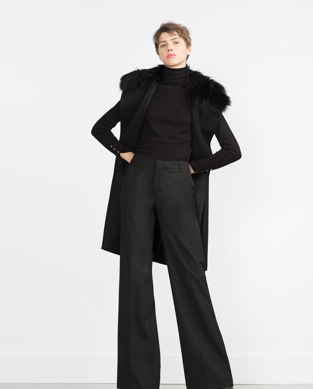 ZARA Women's Faux Fur Coat. Last seen for $96 ZARA Women's Fur Coats ZARA Women's Coats All Women's fur coats All Women's fur coats Price can drop! Are you waiting for sale? We will tell you, when price on this product drops. Submit. Get back in stock .