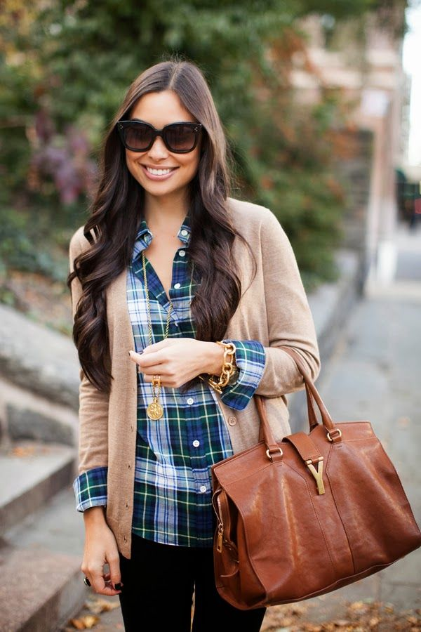 How to wear plaid archives cynthia hudson style for Plaid shirt under sweater