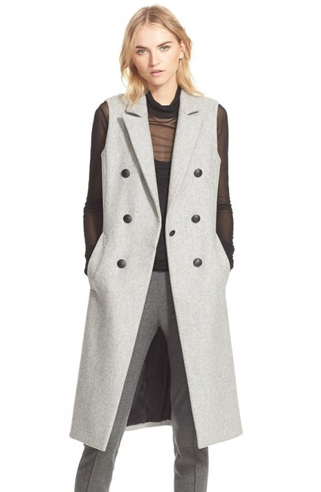 Rag& Bone Faye Long Double Breasted Vest