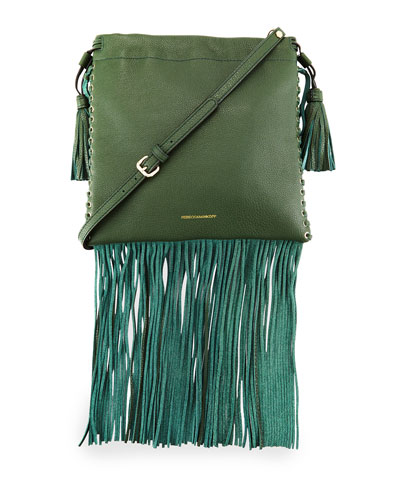 Rebecca Minkoff Moto Fringe Saddle Bag
