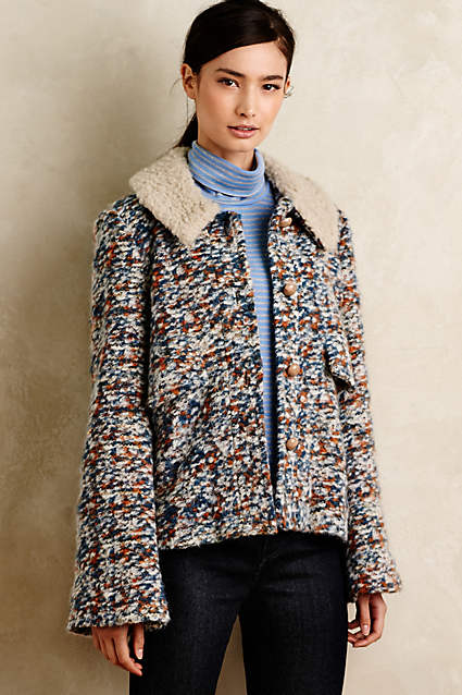 Anthrolpogie Speckled Swing Jacket