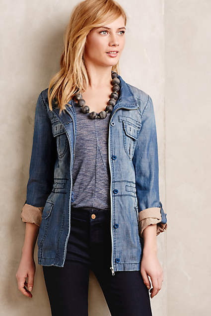 Anthropolgie Chambray Anorak