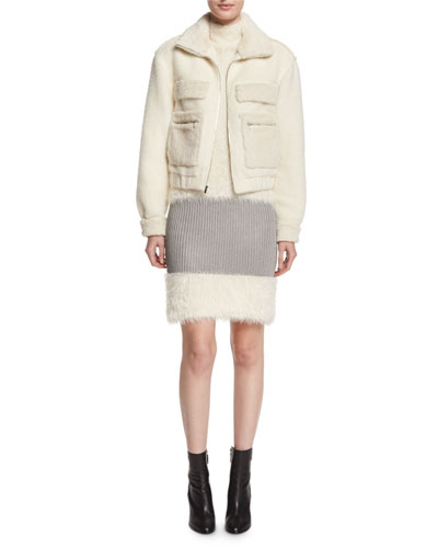 BG -DVF Plush Bomber Jacket