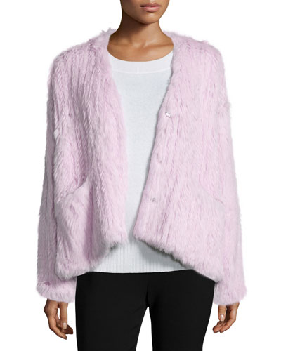 BG Elizabeth and James Bianca Long-Sleever Fur Jacket