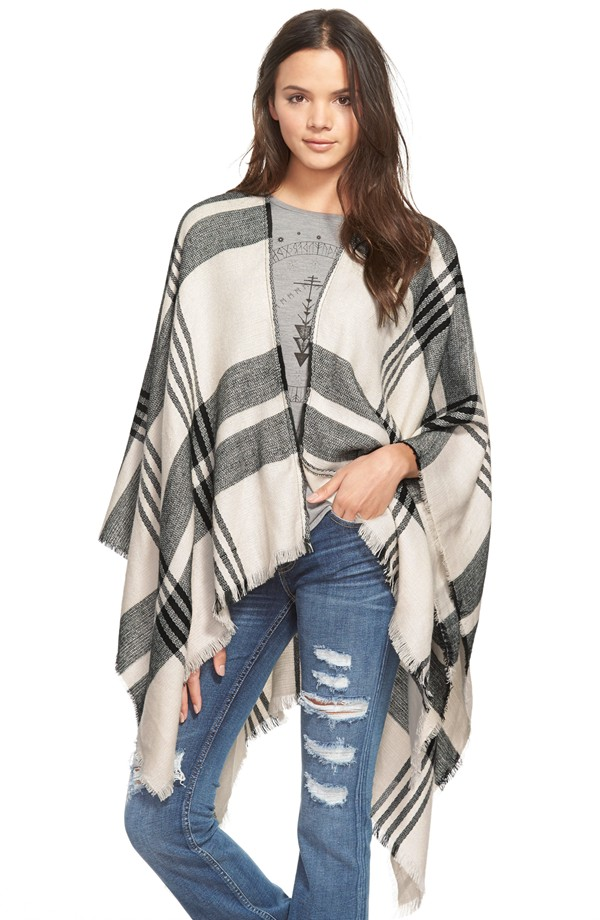 BP Plaid Poncho