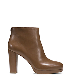 Michael Kors Sammy Leather Platform Ankle Boot