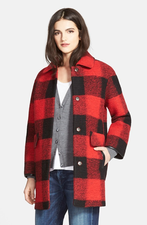 Pendelton Buffalo Plaid Barn Coat