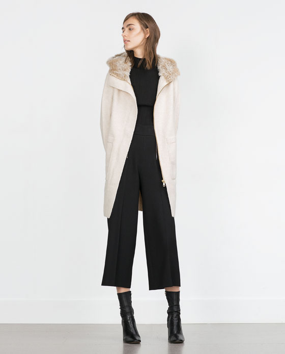Zara Coat with Long Fur Hood
