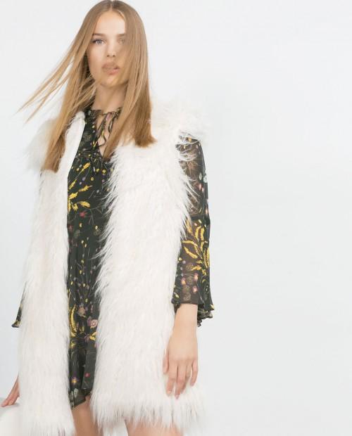 Zara Furry Vest